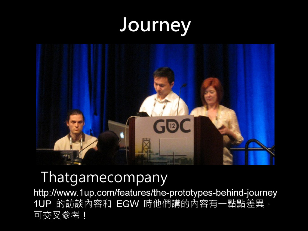 Journey Thatgamecompany http://www.1up.com/feat...