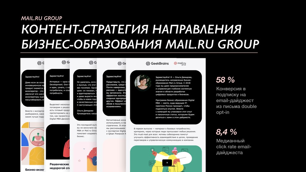 MAIL.RU GROUP КОНТЕНТ-СТРАТЕГИЯ НАПРАВЛЕНИЯ БИЗ...
