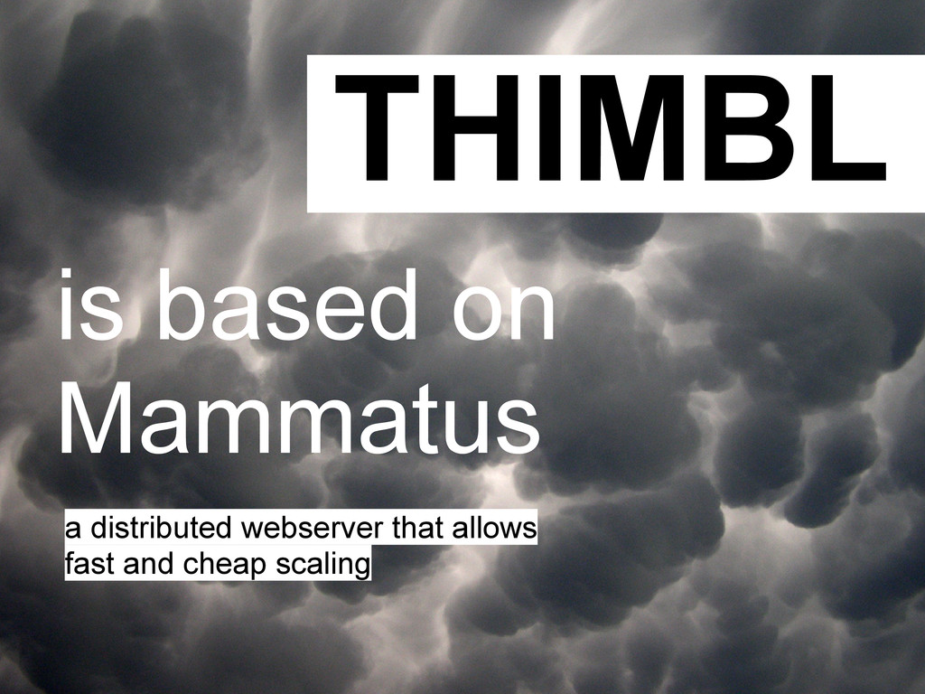 THIMBL is based on Mammatus a distributed webse...