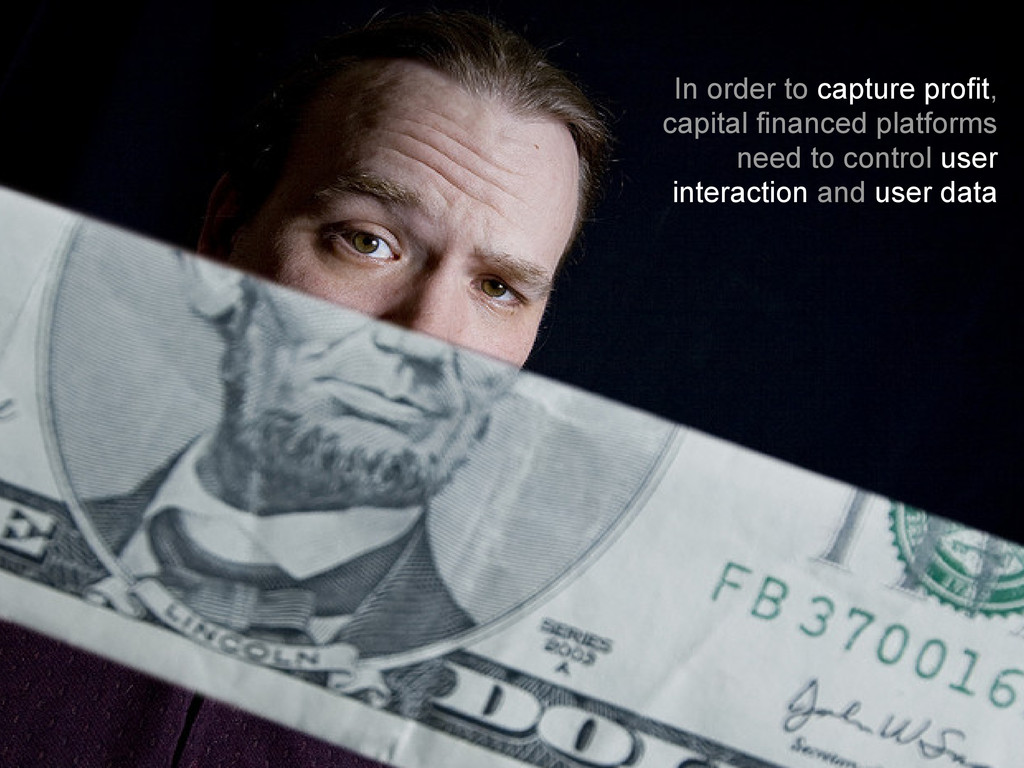 In order to capture profit, capital financed pl...