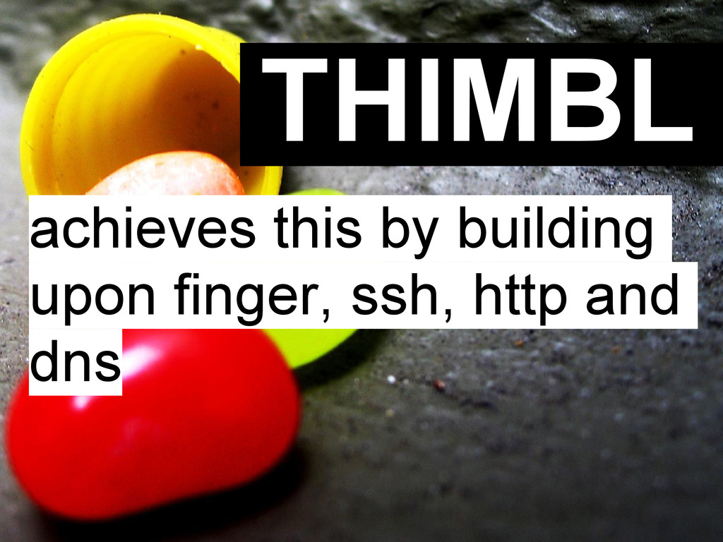 THIMBL achieves this by building upon finger, s...
