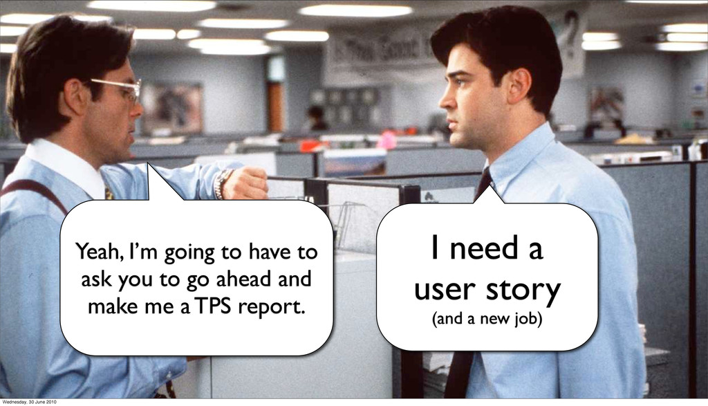 I need an analytics report! Yeah, I'm going to ...