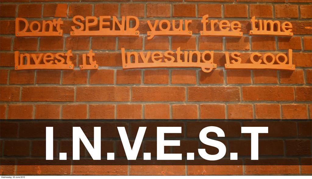 I.N.V.E.S.T Wednesday, 30 June 2010