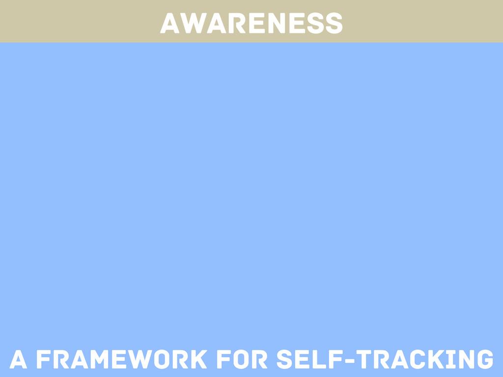 Awareness A framework for self-tracking