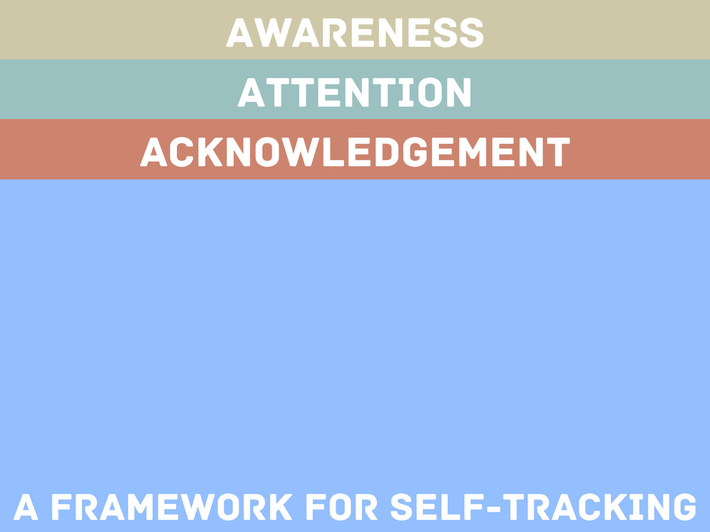 Awareness Attention Acknowledgement A framework...