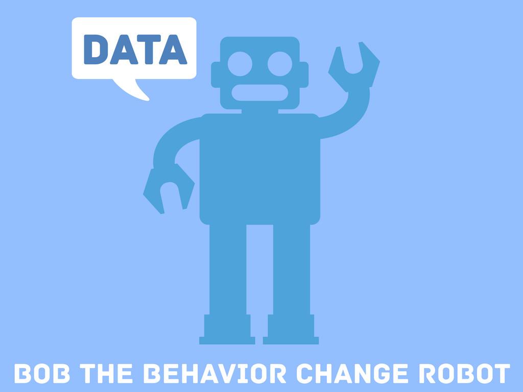 Bob the Behavior change Robot Data
