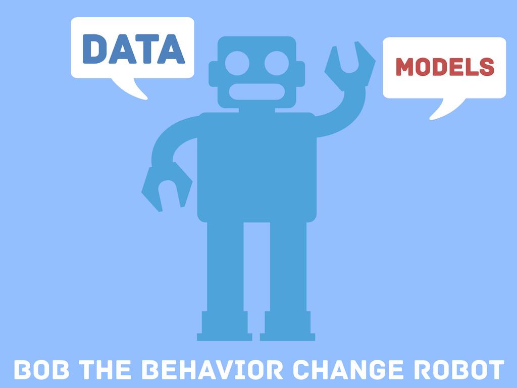 Bob the Behavior change Robot Data Models