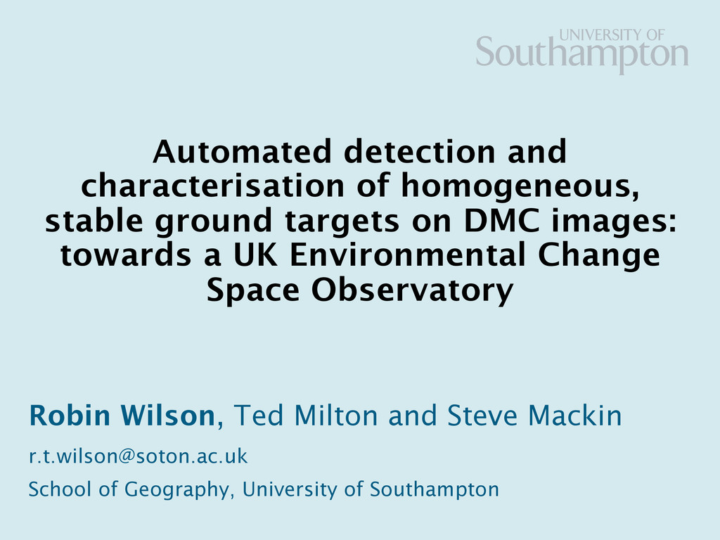 Automated detection and characterisation of hom...