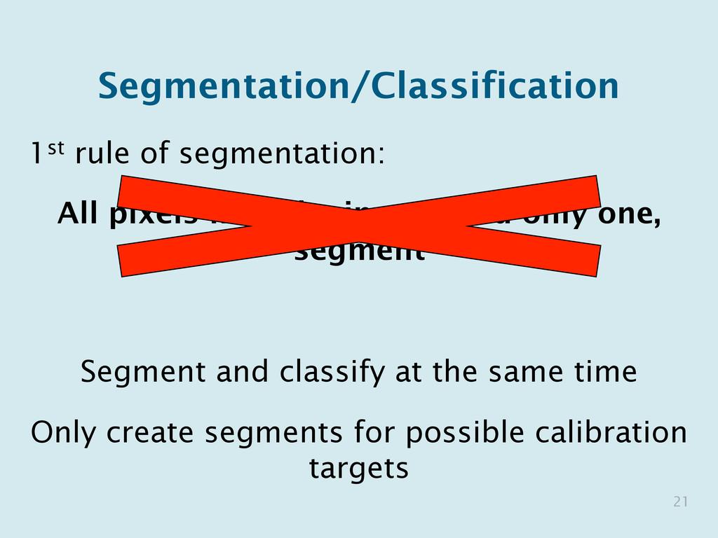 Segmentation/Classification 1st rule of segment...