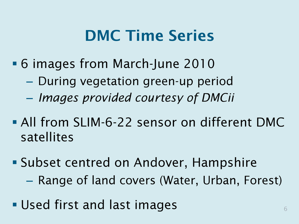 DMC Time Series § 6 images from March-June 201...