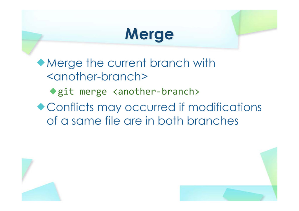 Merge Merge the current branch with <another-br...