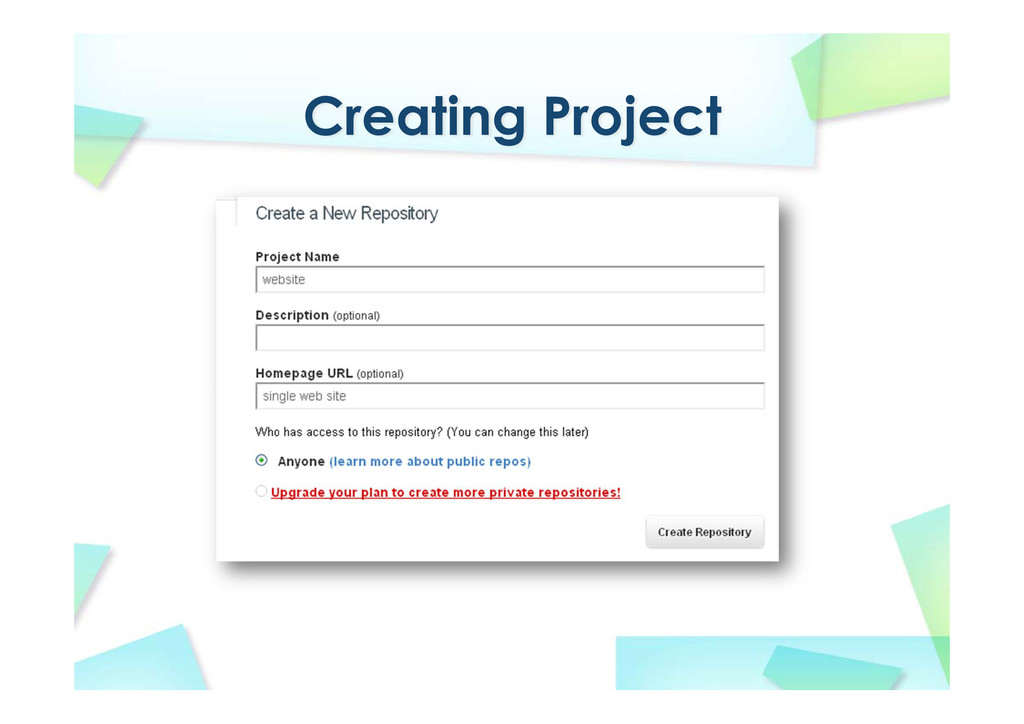 Creating Project