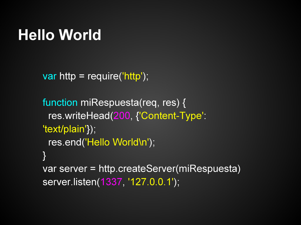 Hello World var http = require('http'); functio...