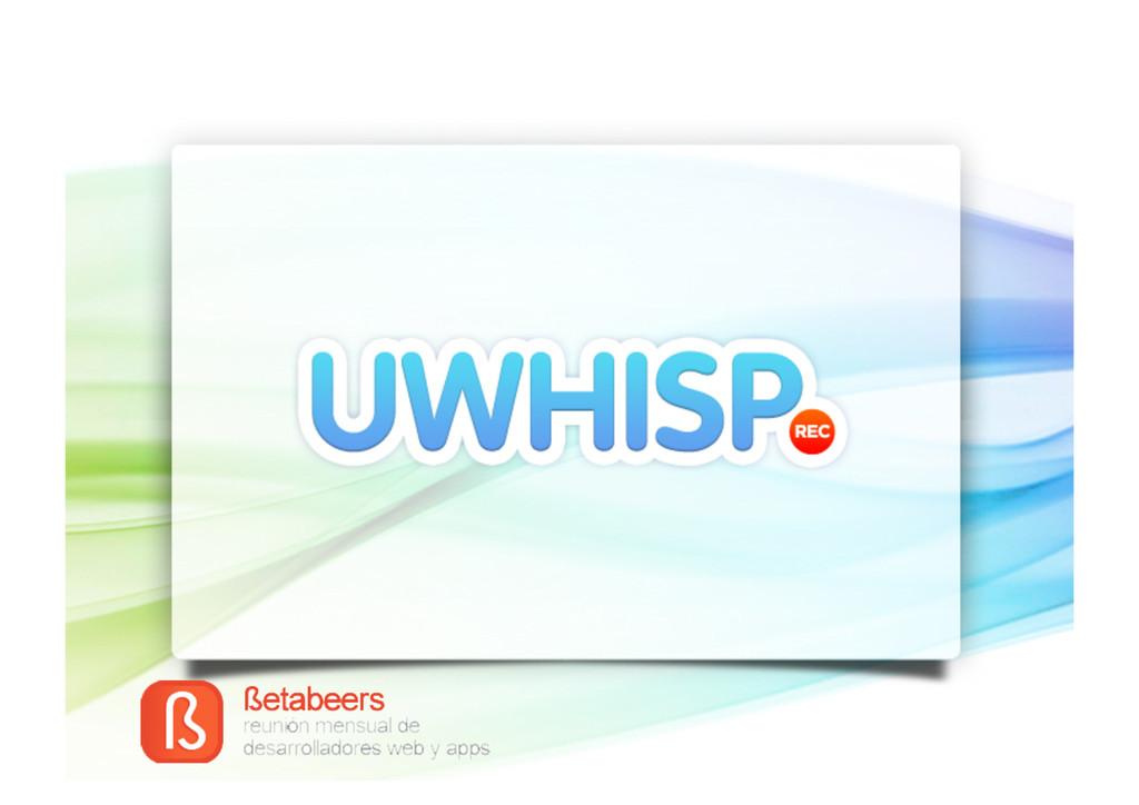 Logo uWhisp + fondo segons imatg...