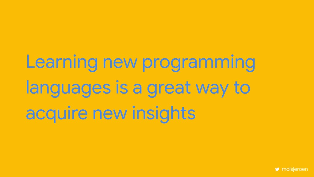 Learning new programming languages is a great w...