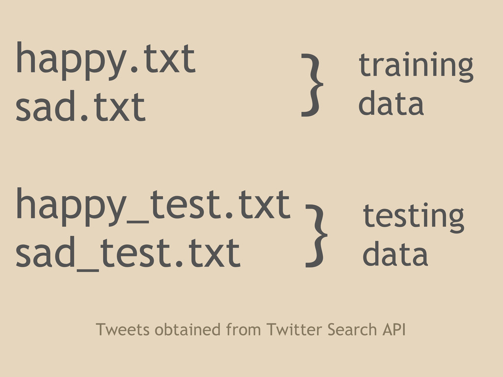 happy.txt sad.txt happy_test.txt sad_test.txt }...