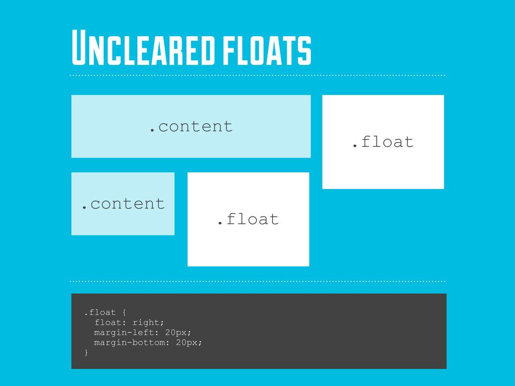 .float { float: right; margin-left: 20px; margi...