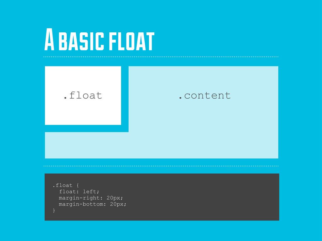 .float { float: left; margin-right: 20px; margi...