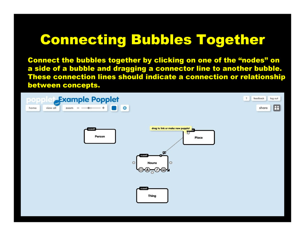 Connecting Bubbles Together Connect the bubbles...