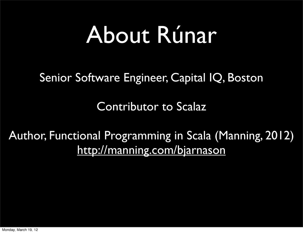 About Rúnar Senior Software Engineer, Capital I...