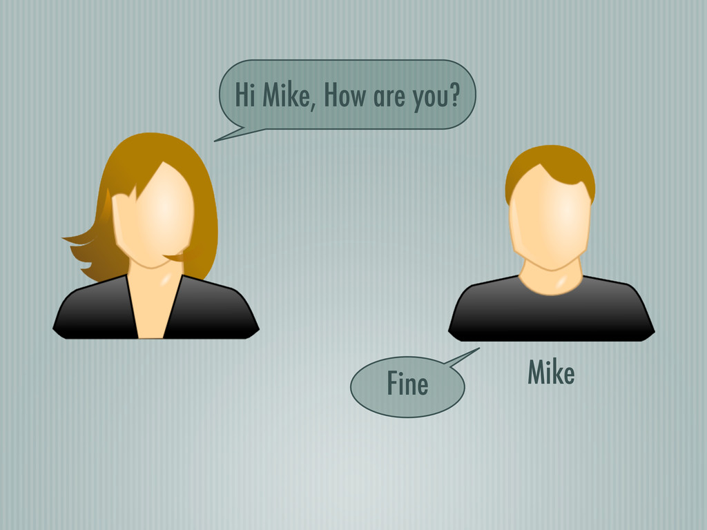 Mike Hi Mike, How are you? Fine