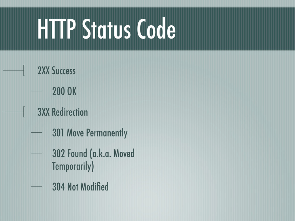 HTTP Status Code 2XX Success 200 OK 3XX Redirec...