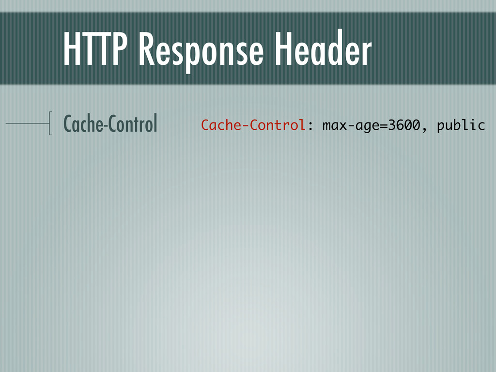 HTTP Response Header Cache-Control Cache-Contro...