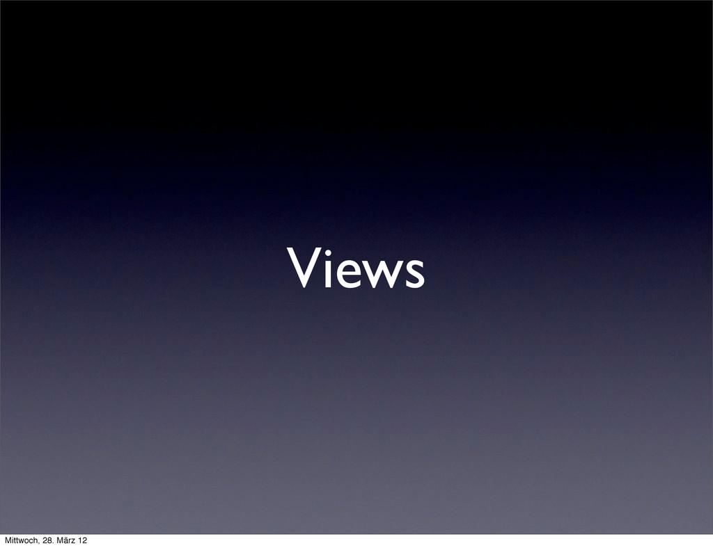 Views Mittwoch, 28. März 12