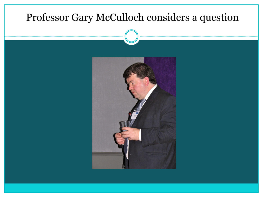 Professor Gary McCulloch considers a question