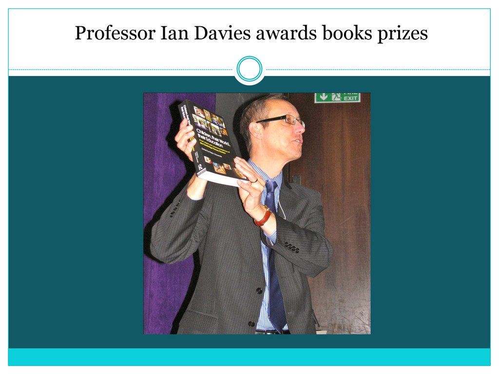 Professor Ian Davies awards books prizes