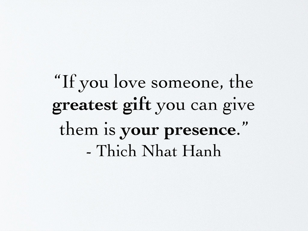 """""""If you love someone, the greatest gift you can..."""
