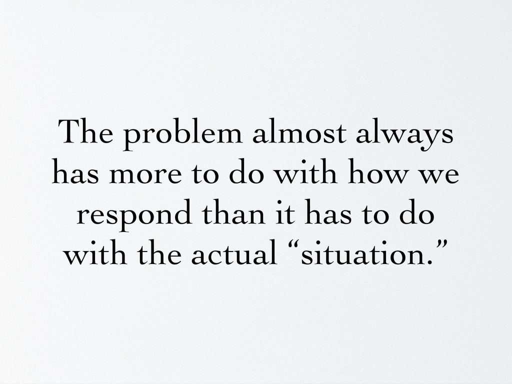 The problem almost always has more to do with h...