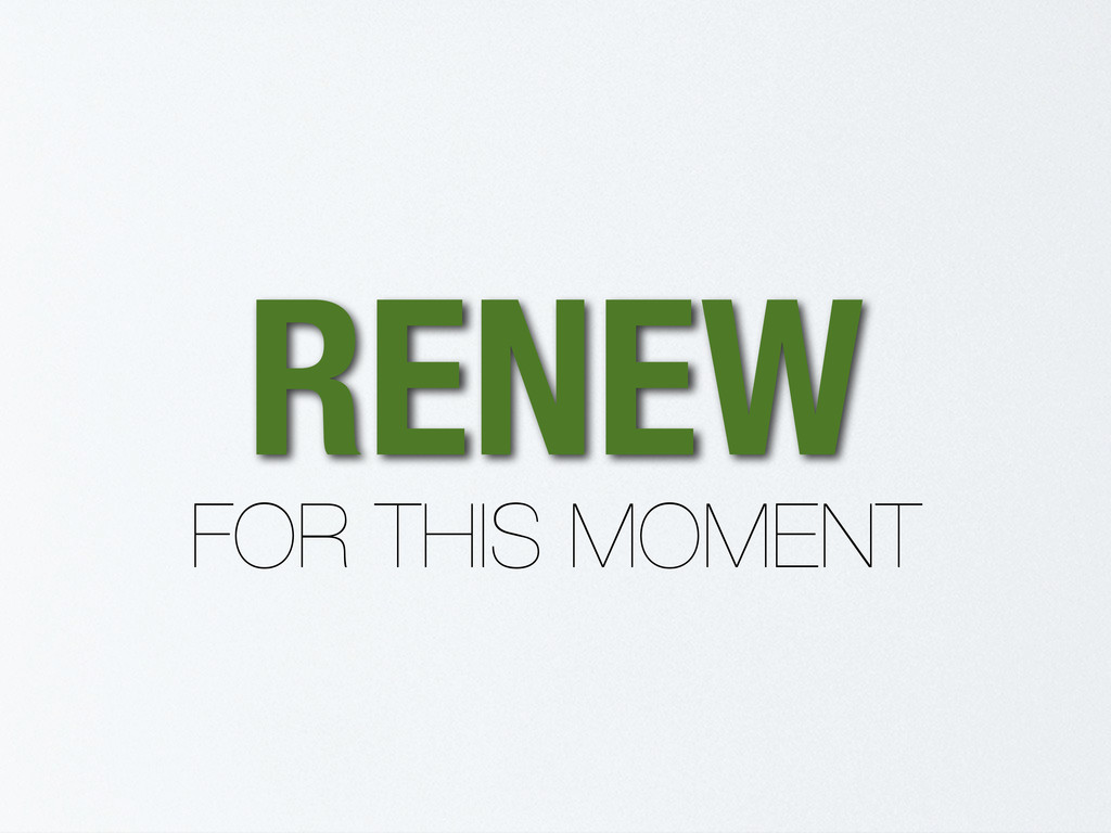 RENEW FOR THIS MOMENT