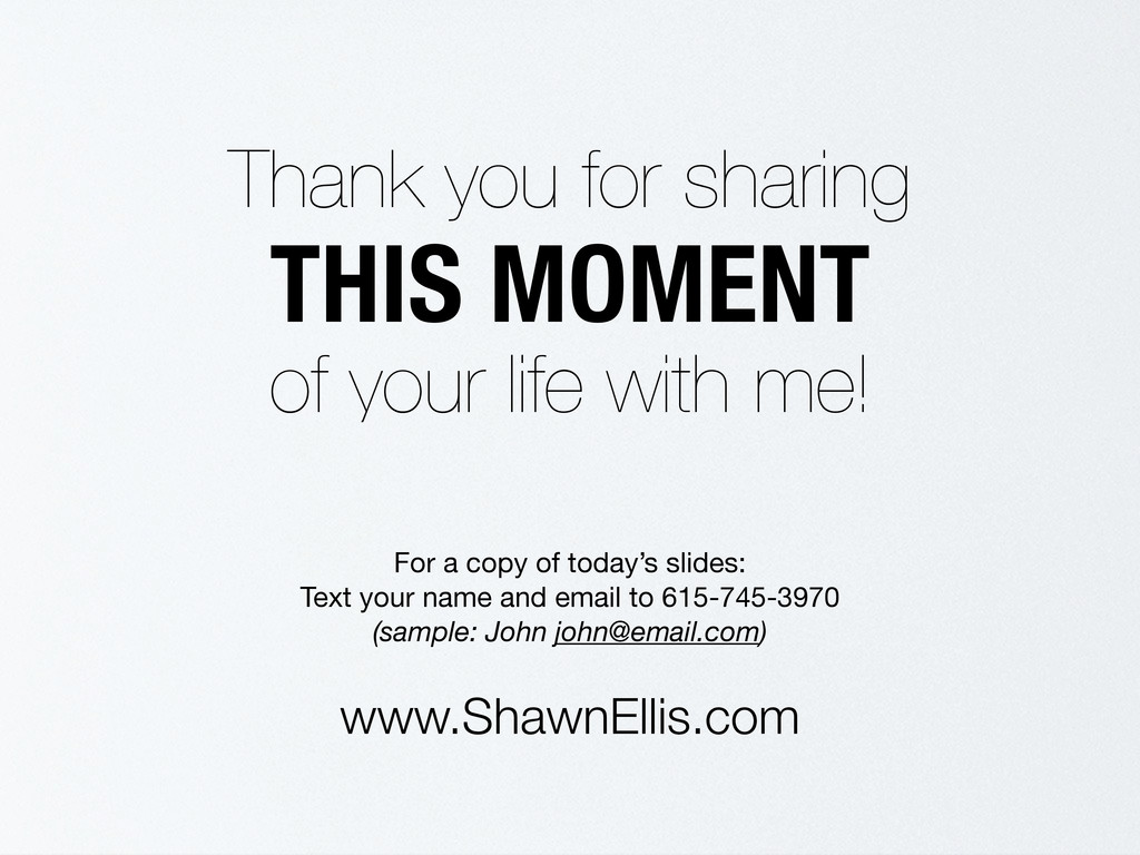 Thank you for sharing THIS MOMENT of your life ...
