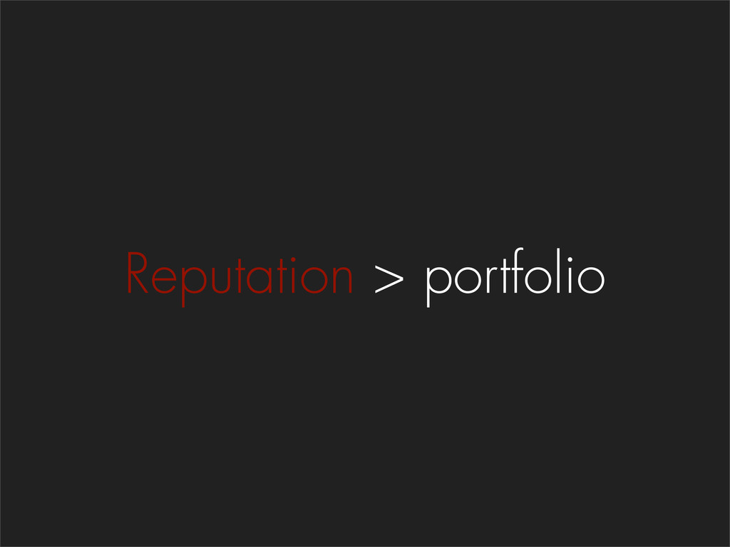 Reputation > portfolio