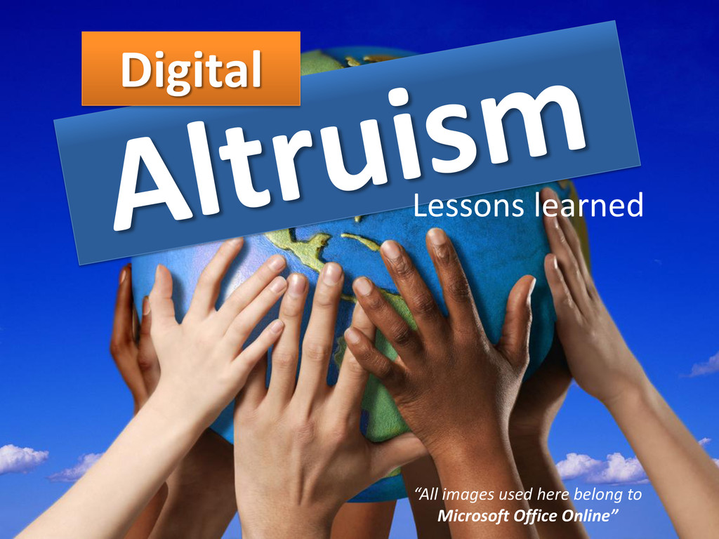 "Digital Lessons learned ""All images used here b..."