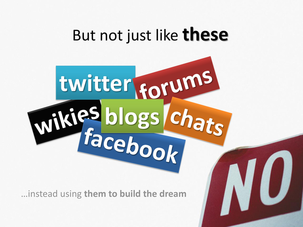 twitter blogs But not just like these …instead ...