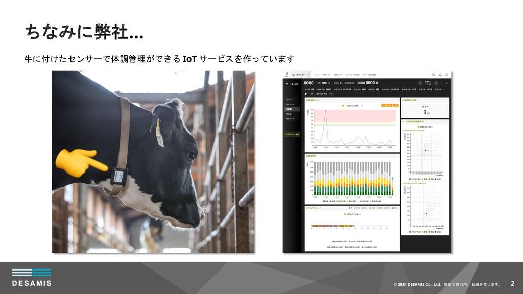 2 © 2021 DESAMIS Co., Ltd. 無断での引用、 転載を禁じます。 牛に付...