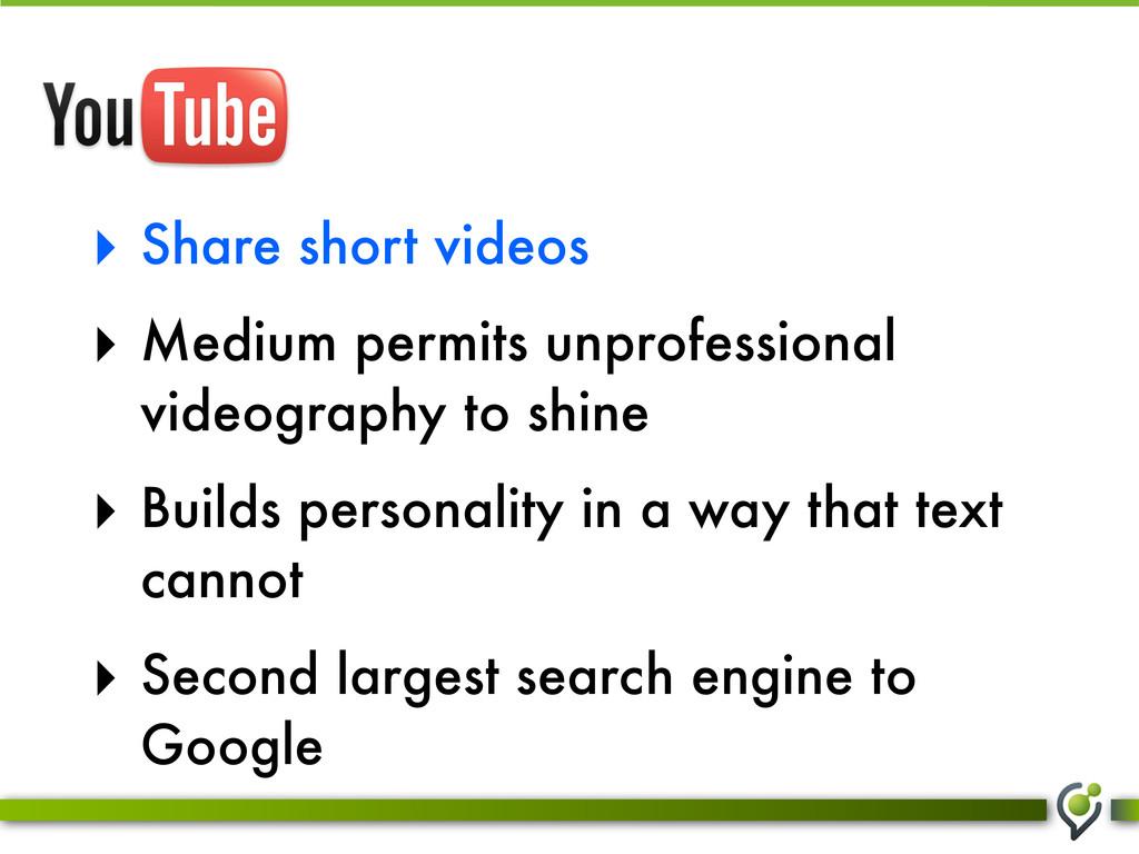 ‣ Share short videos ‣ Medium permits unprofess...