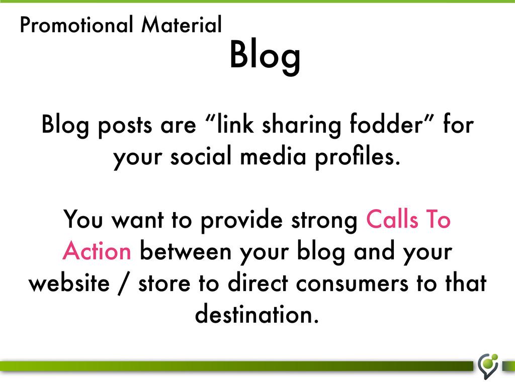 """Blog Blog posts are """"link sharing fodder"""" for y..."""