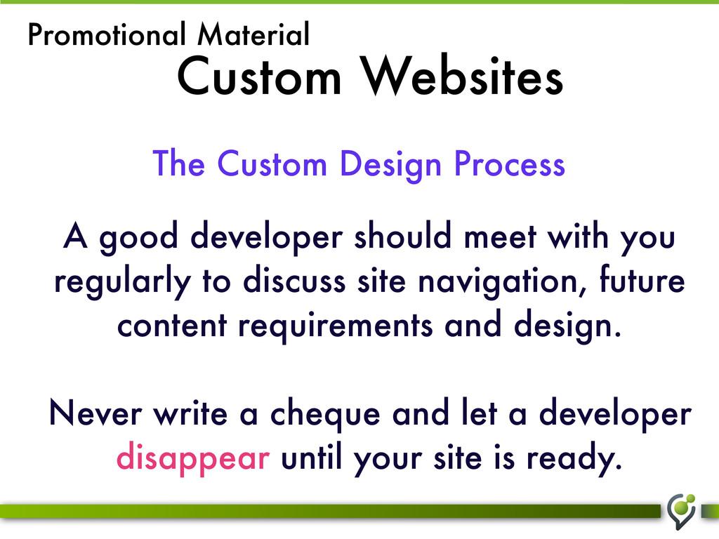 Custom Websites The Custom Design Process Promo...