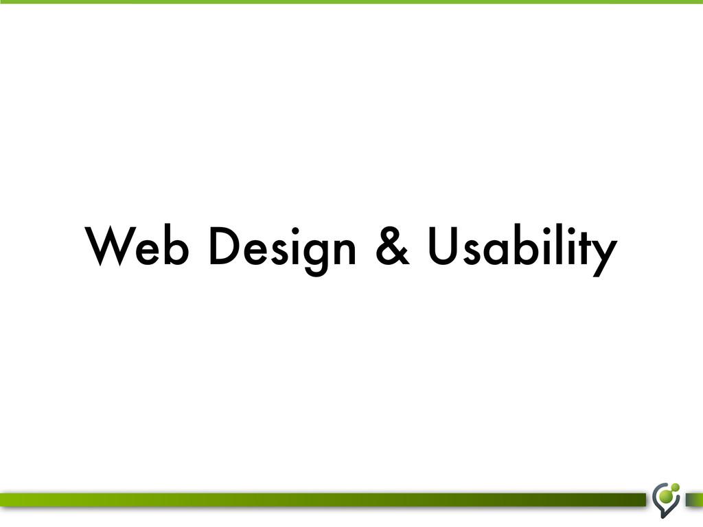 Web Design & Usability
