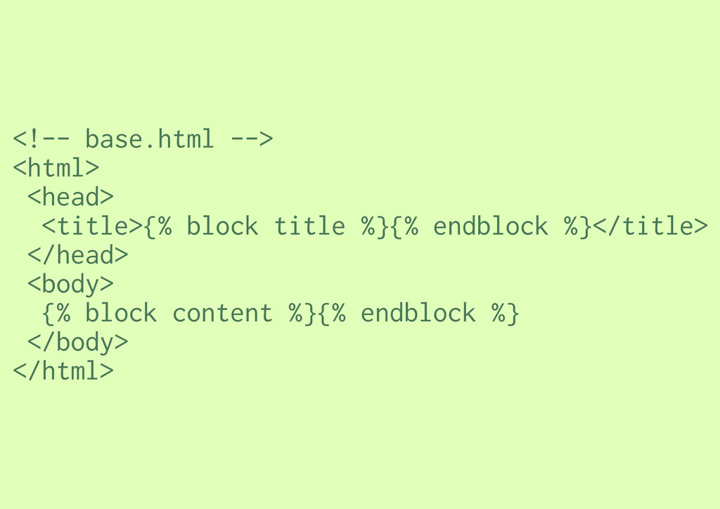 <!-- base.html --> <html> <head> <title>{% bloc...