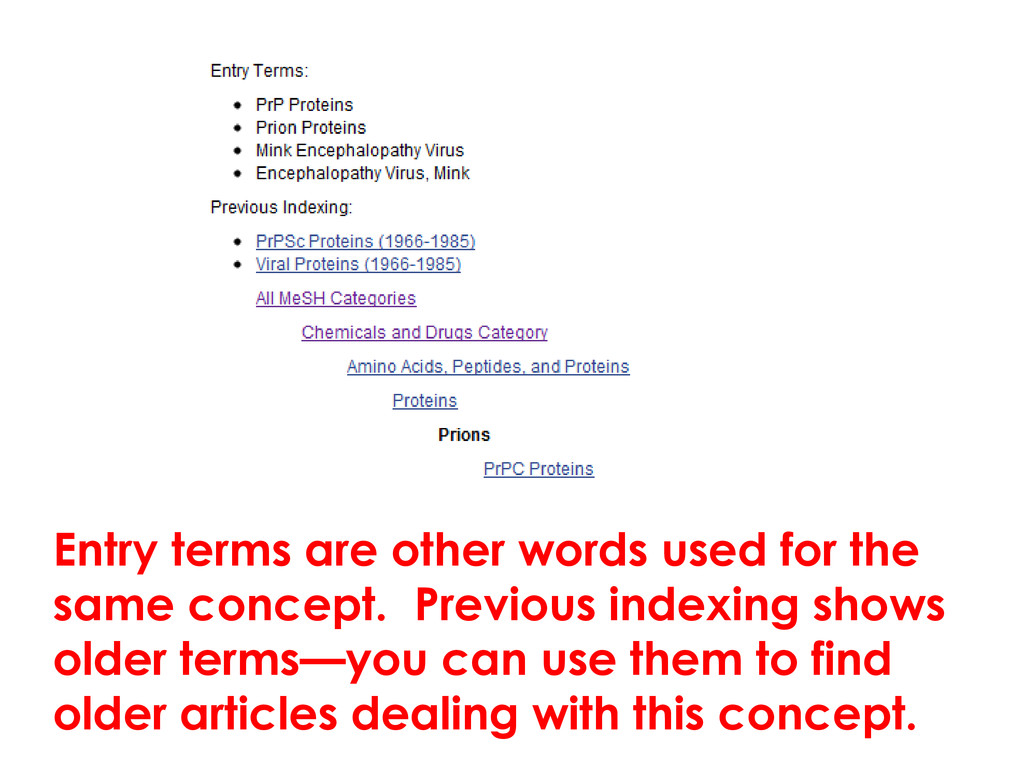 Entry terms are other words used for the same c...