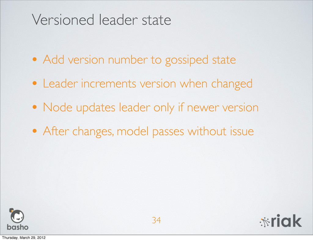 Versioned leader state 34 • Add version number ...