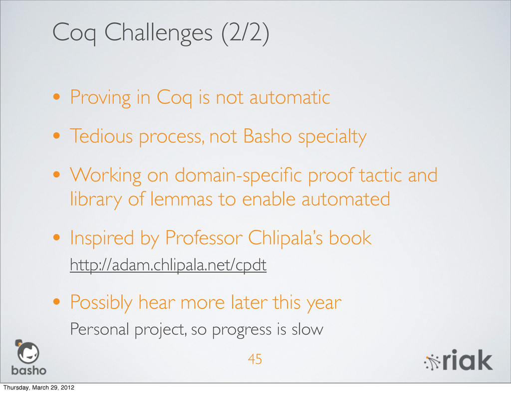 Coq Challenges (2/2) • Proving in Coq is not au...
