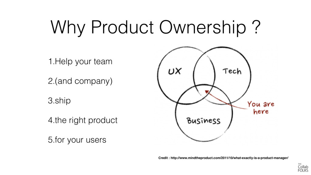 Why Product Ownership ? 1.Help your team 2.(and...