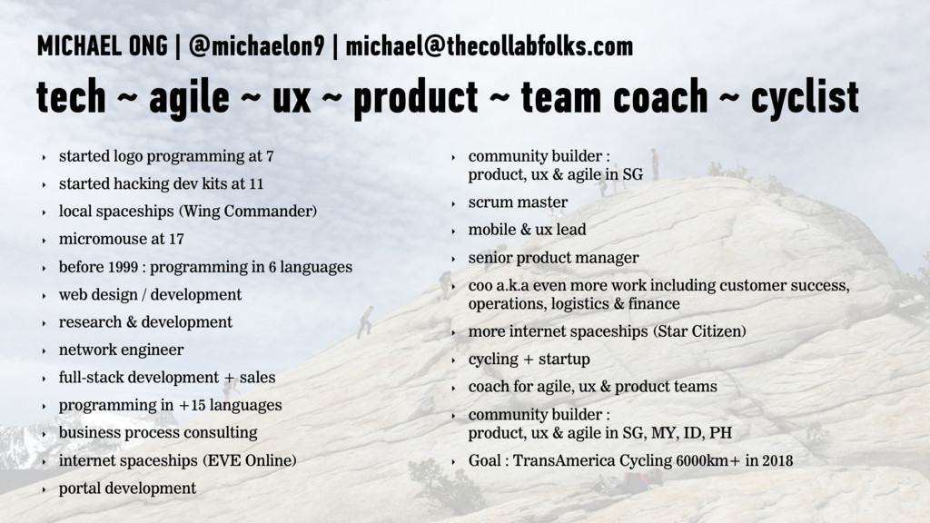 MICHAEL ONG | @michaelon9 | michael@thecollabfo...
