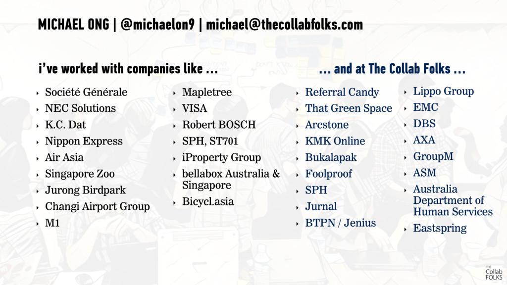 ‣ Société Générale ‣ NEC Solutions ‣ K.C. Dat ‣...