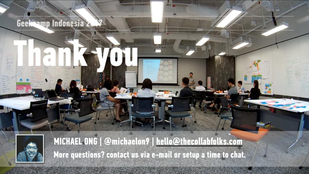 Thank you MICHAEL ONG | @michaelon9 | hello@the...